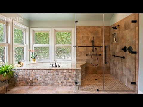 Wheelchair-friendly bathroom remodel