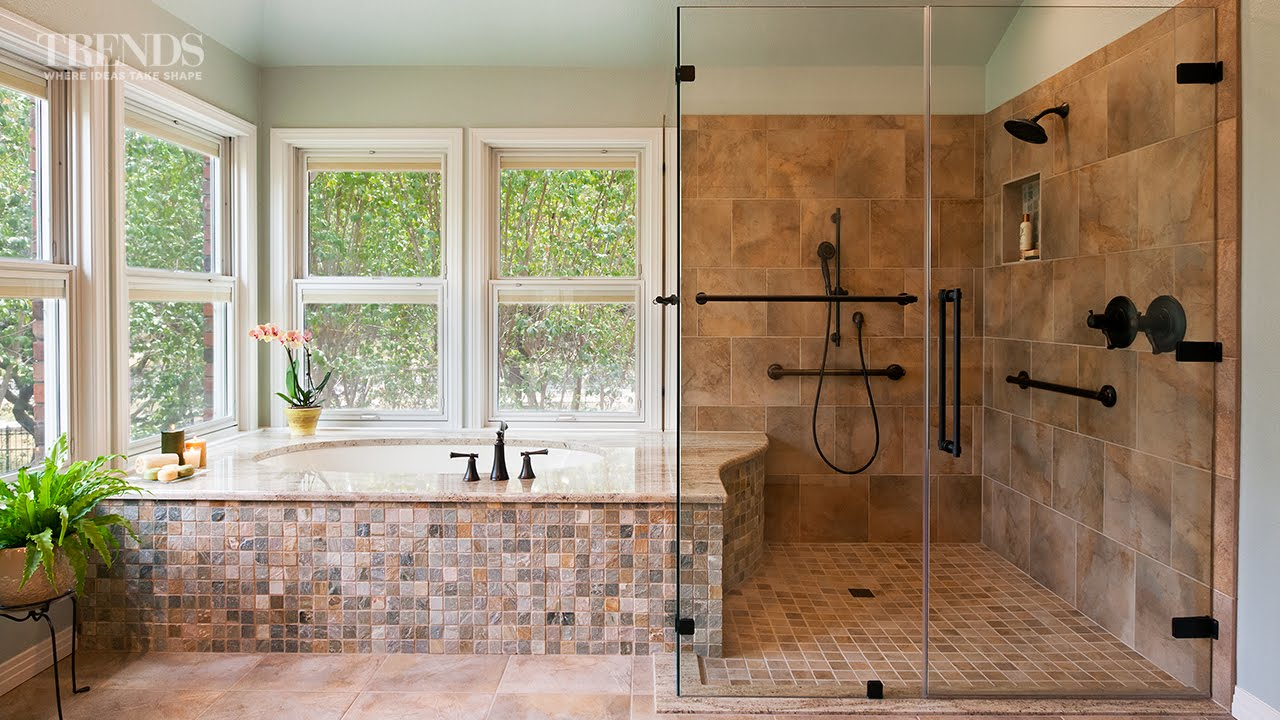 Bathroom Renovation Ideas Youtube wheelchair-friendly bathroom remodel - youtube