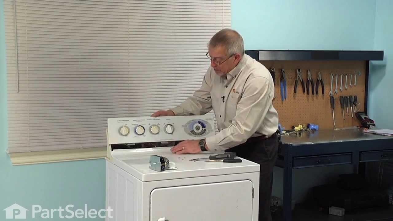 Dryer Repair - Replacing the Timer (GE Part # WE4M189) on