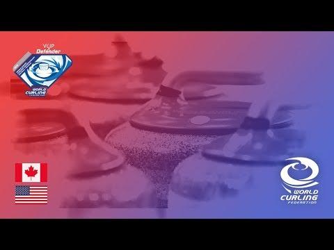 Canada v United States - Women round-robin - World Junior Curling Championships 2018