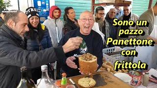 Street food panettone con frittola - artigianale - Palermo