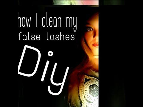 DIY How to clean false eyelashes