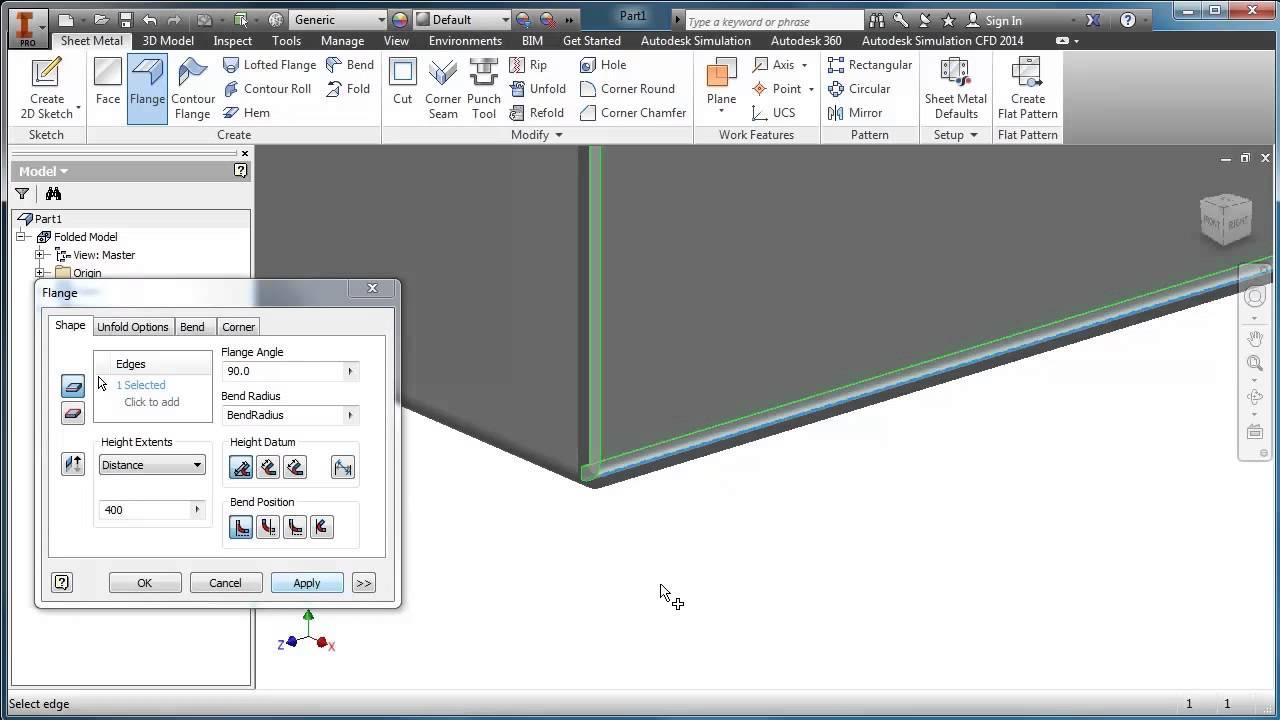Inventor Sheet Metal Trailer Box Youtube