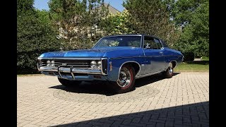 1969 Chevrolet Chevy Impala Custom SS in Blue & 427 Engine Sound on My Car Story with Lou Costabile