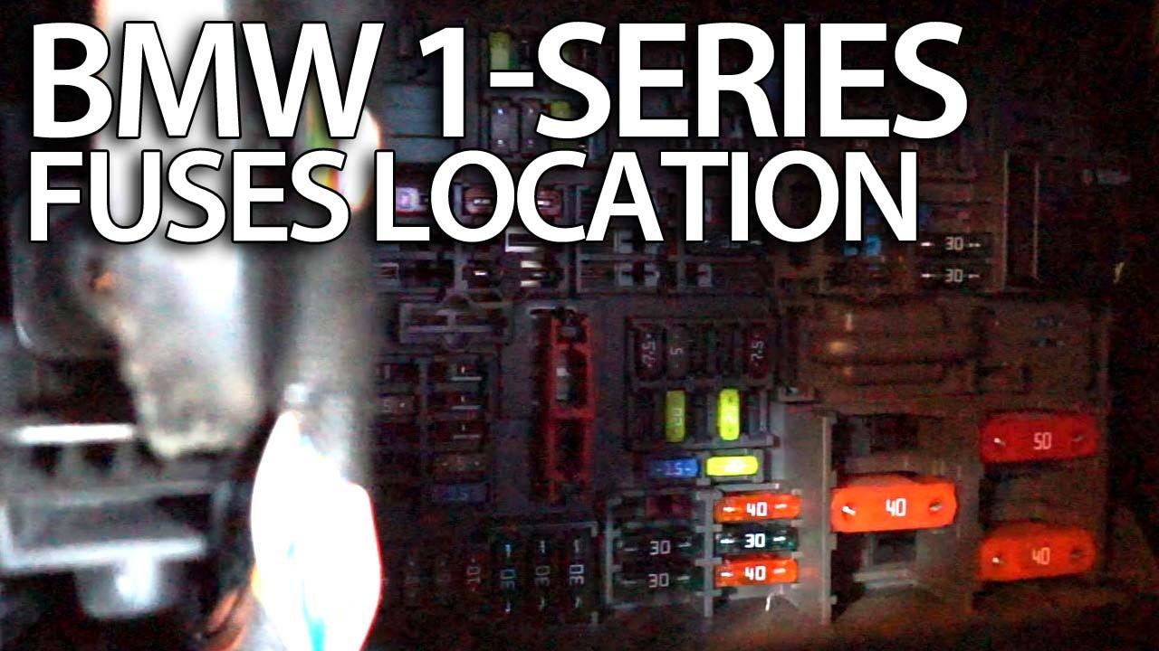 Where are fuses in BMW 1Series (E81 E82 E87 E88 fusebox location)  YouTube