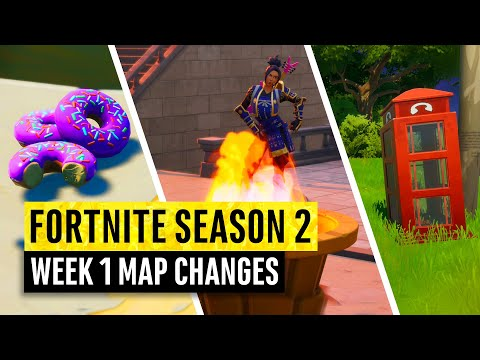 Fortnite | All Season 2 Map Updates And Hidden Secrets! WEEK 1 (chapter 2)