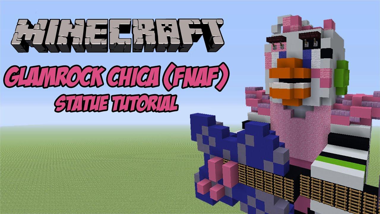 Minecraft Tutorial: Glamrock Chica (FNAF: Security Breach) Statue
