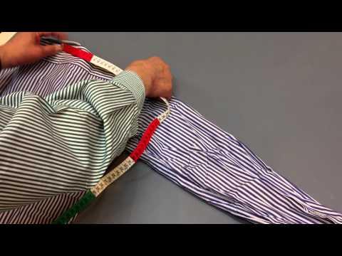お気に入りのシャツの採寸方法 裄丈の計り方金港堂