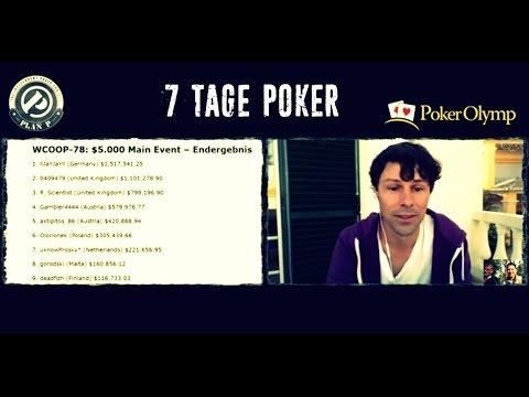 Deutscher ist Online-Weltmeister I 7 Tage Poker (30.9.2016)