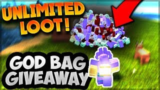MASSIVE LOOT GIVEAWAY (God Bag Giveaway) Roblox: Booga Booga