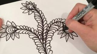 ASMR Doodle: Vines, flowers & Curly Q