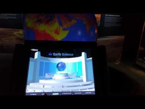 Geoscience Australia globe display