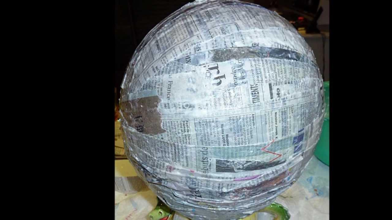 piÑata hecha con un globo - youtube
