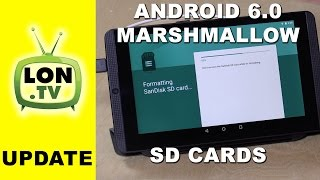 How SD Cards Work with Android Marshmallow / M / 6.0  with Nvidia Shield K1 Tablet