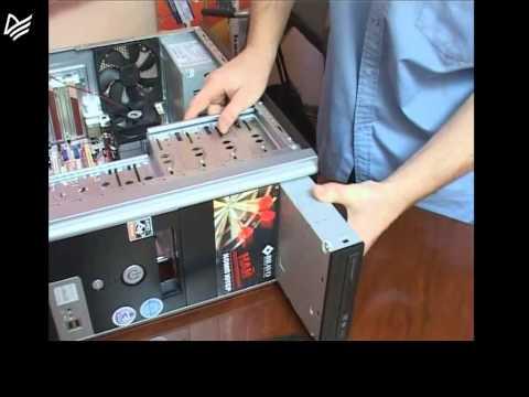 Вопрос: Как установить DVD привод?