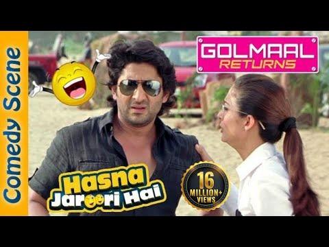 Arshad Warsi Best Comedy   Hasna Zaroori Hai  Golmaal Returns  Indian Comedy