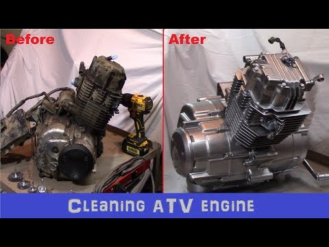 Cleaning an ATV engine