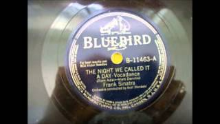 Frank Sinatra - The Night We Called It a Day (Bluebird 1942)