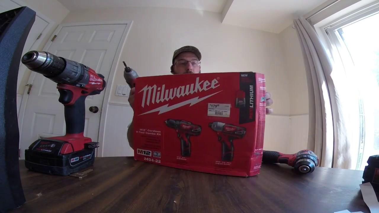"Milwaukee 2407-22 Drill and Driver Kit 3//8/"" 12V Li-Ion Cordless 2-Batteries NEW"