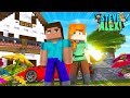 Minecraft LIFE of ALEX & STEVE - MOVING INTO OUR NEW HOUSE TOGETHER!! Little Donny Roleplay