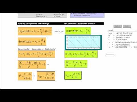 Optimale bestellmenge formel