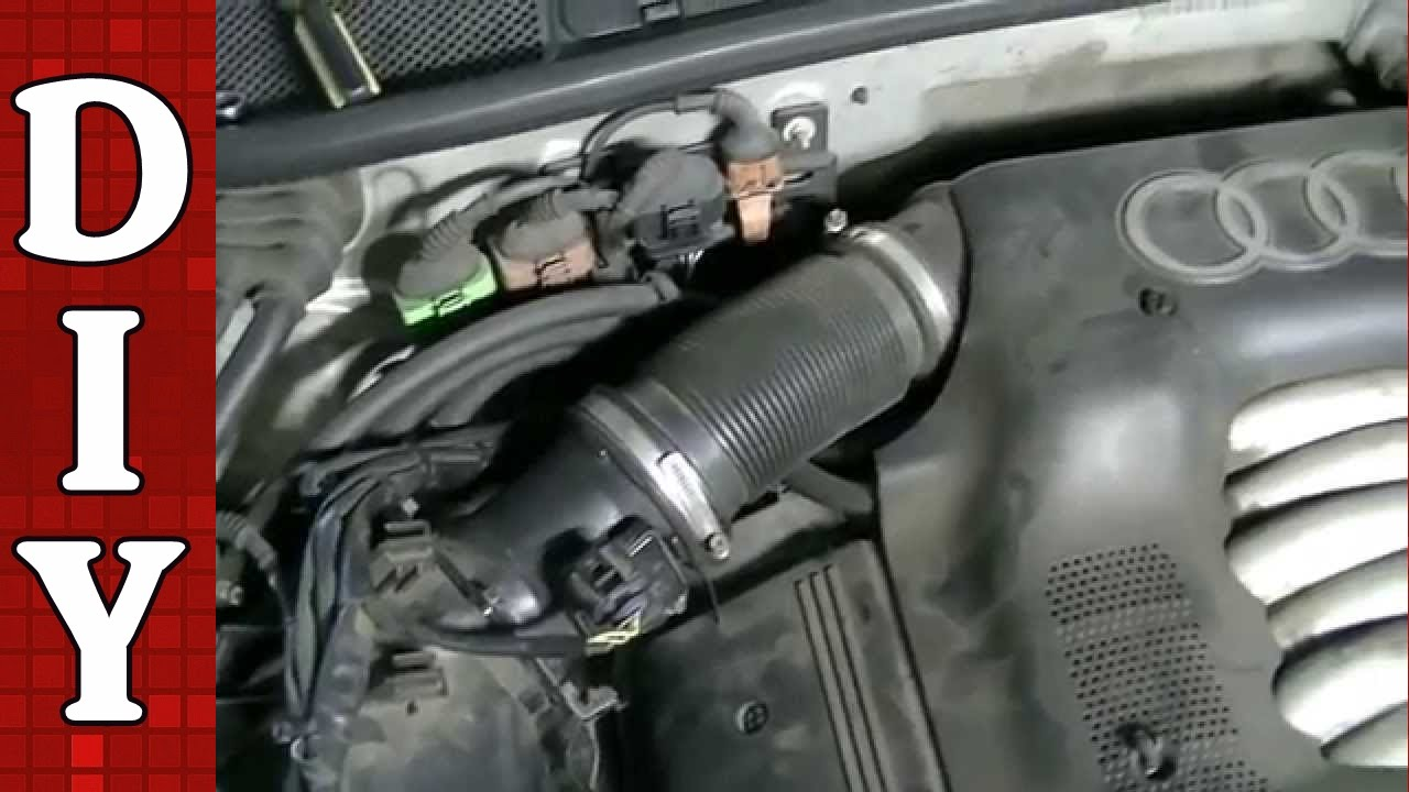 how to clean and replace a maf sensor audi vw passat a4 a6 2 8l engine youtube [ 1280 x 720 Pixel ]