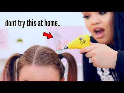 i tried Dumb 1-Minute Hair Hacks and this happened..
