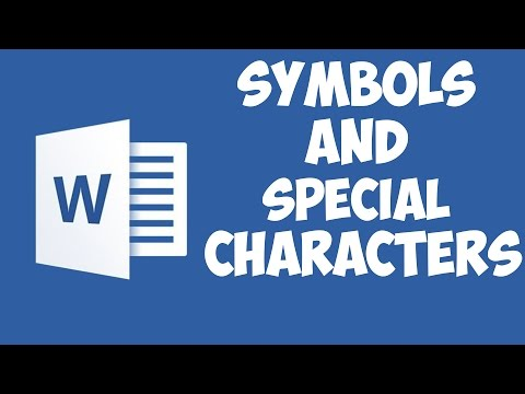 Word 2016 - Symbols and special characters