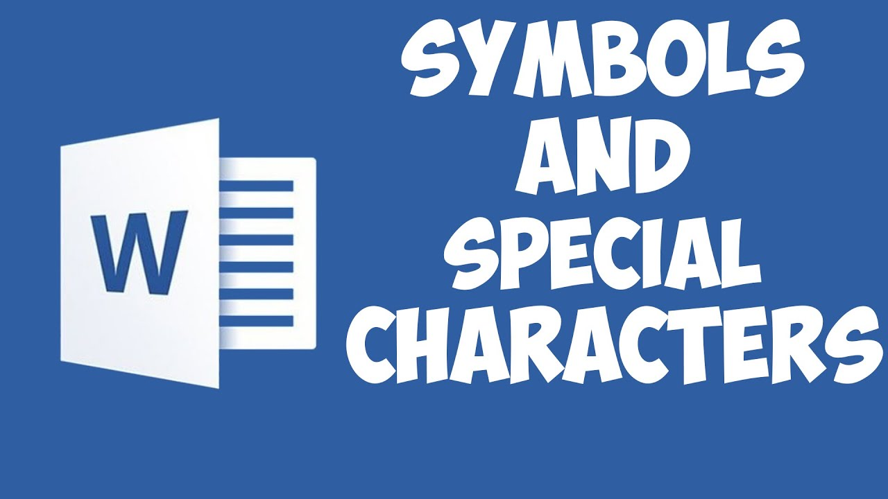 Word 2016 Symbols And Special Characters Youtube
