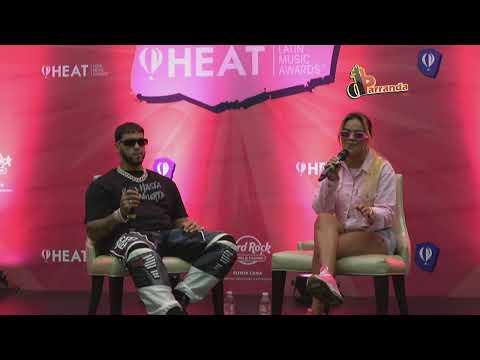 Rueda de prensa de Anuel AA y Karol G en HEAT LATIN MUSIC AWARDS 2019