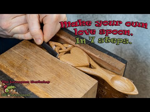 How You Can Make A Welsh Love Spoon. Seven Steps For Beginner Lovespoon Carvers.