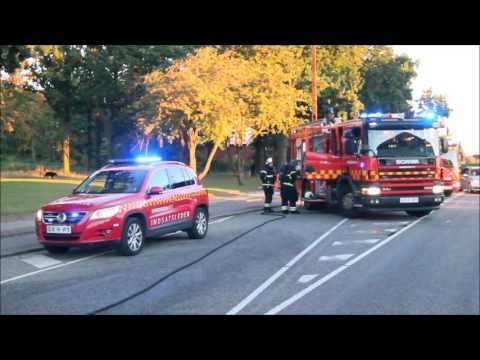 07.10.2016 Bil begyndte at køre under brand, Bagsværd
