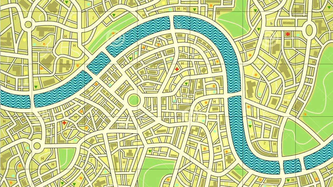 Simple Road Map Design By Adobe Illustrator