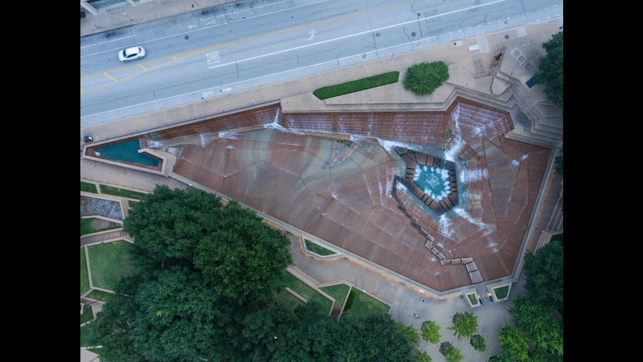 Fort Worth Water Gardens in 4K YouTube