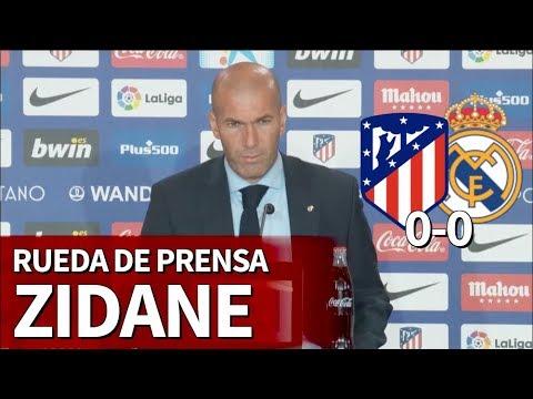 Atlético de Madrid 0-0 Real Madrid | Rueda de prensa de Zidane | Diario AS