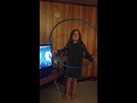 There's a hole in her hula hoop!!