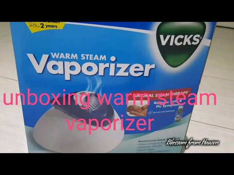 Vicks warm steam vaporizer review..unboxing ...(FOR BABY)