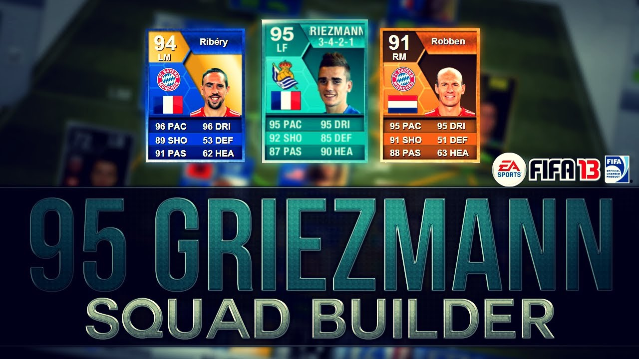 PLAYER CARD 95 RATED ANTOINE GRIEZMANN SQUAD BUILDER ...