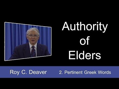 2. Pertinent Greek Words | Authority of Elders