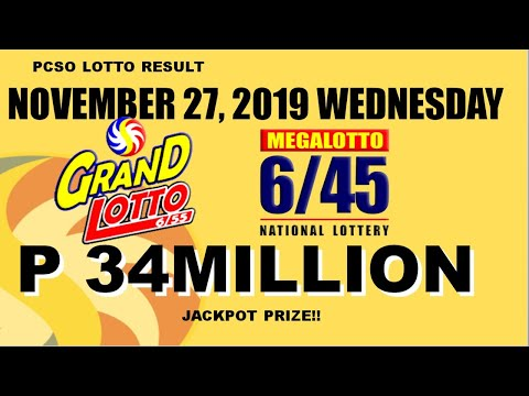 LOTTO RESULT TODAY [9pm] (November 27, 2019 Wednesday) Swertres, 3D   Ez2, 2D   STL (PCSO)
