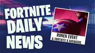 *RUNEN* EVENT & AVENGERS x FORTNITE - Fortnite Daily News (22 April 2019)