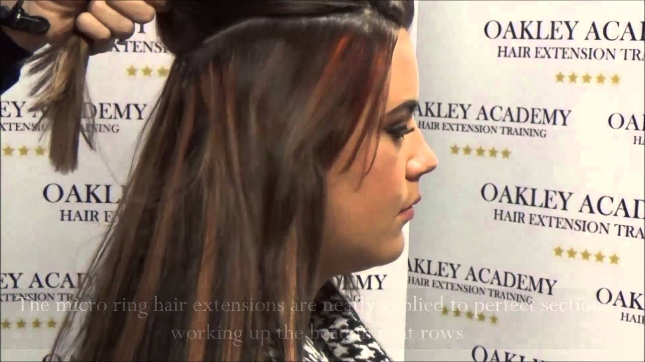 Micro Ring Hair Extension Training Youtube