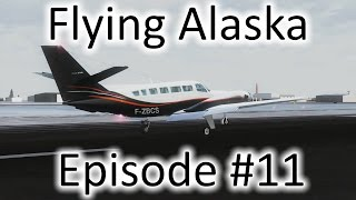 FSX | Flying Alaska Ep. #11 - Point Lay to Deadhorse | Cessna F406