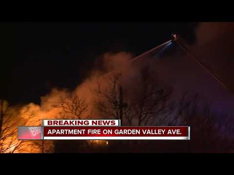 Big apartment fire on Garden Valley Road