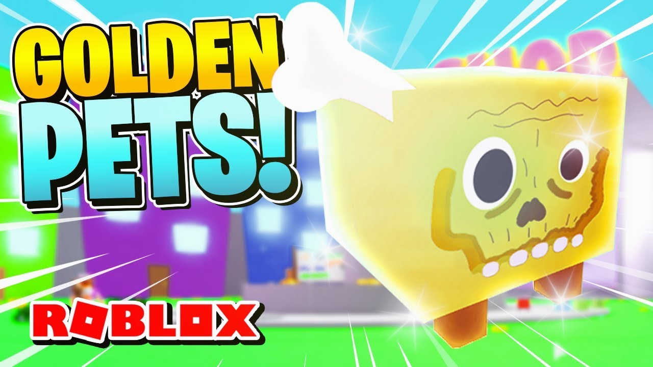 ROBLOX PET SIMULATOR [Codes] - HOW TO GET GOLDEN PETS! [Trading Update]