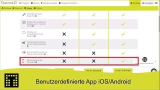Benutzerdefinierte App iOS/Android