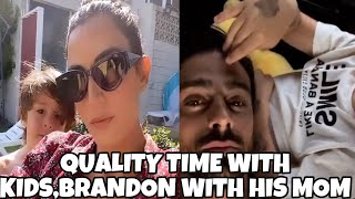MICHELEMORRONE TRAVEL TO ITALY SPENDING TIME MARCUS |ROUBAH SAADEH SPENDING TIME BRANDO FAMILY TIME