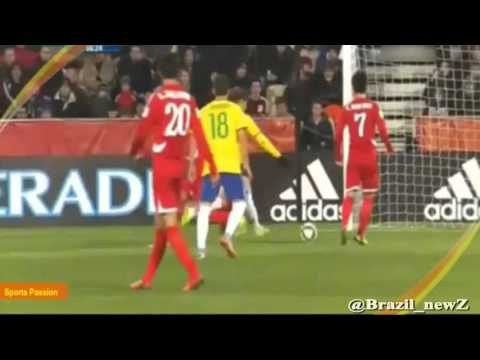 "Real Madrid player ""Jean Carlos"" GREAT dribbling and goal - Brazil vs Korea 3-0 - World Cup 2015"