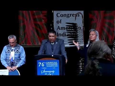 NCAI Day 2 Invocation Gov  Michael Chavaria Santa Clara Pueblo