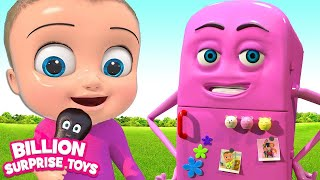Johny Refrigerator Song | BillionSurpriseToys Nursery Rhymes & Kids Songs